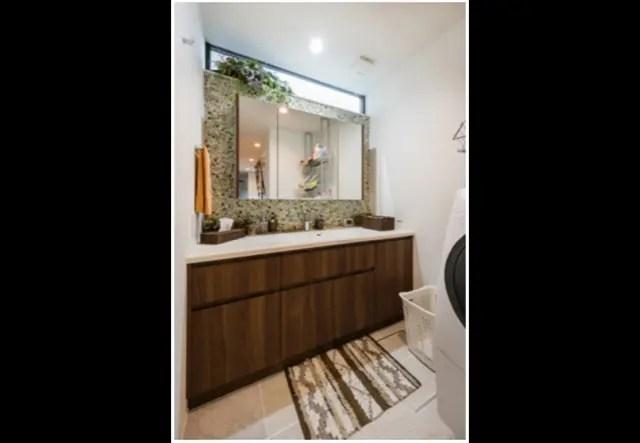 17.練馬区注文住宅の洗面所の写真