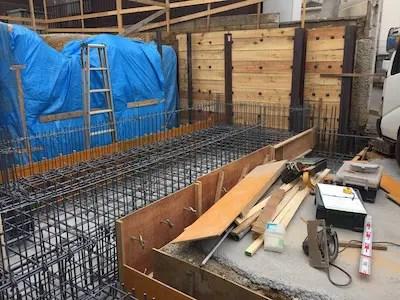 所沢市注文住宅の床配筋写真