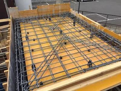 所沢市注文住宅の天井スラブ配筋の写真