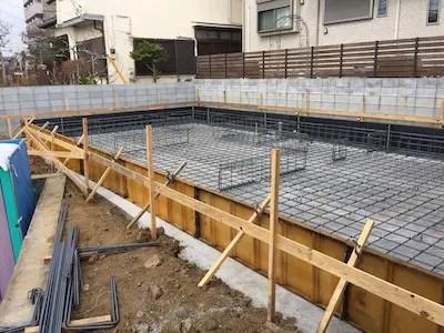 所沢市注文住宅の基礎配筋写真