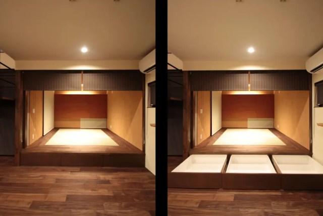 小金井市注文住宅|畳下収納の画像