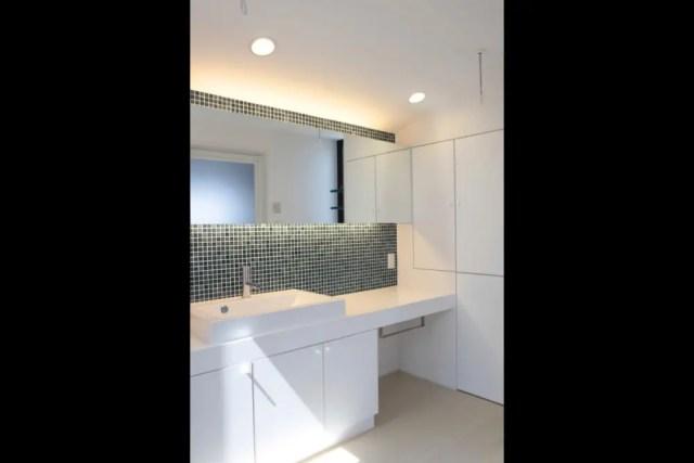 練馬区注文住宅KS邸の洗面化粧台の画像