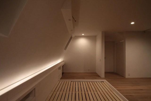 渋谷区注文住宅|SE構法:SW邸のベッドHED収納画像