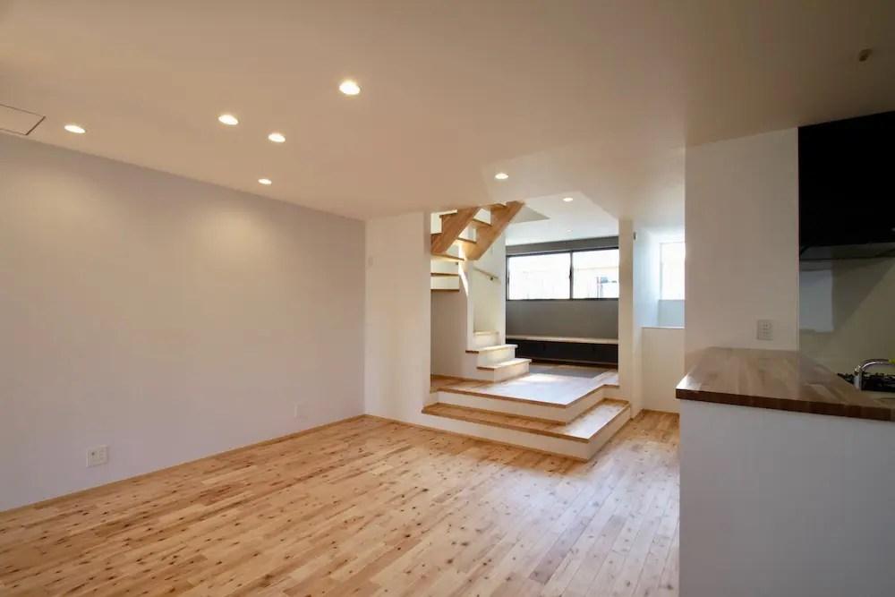 所沢市注文住宅:KN邸のスキップフロア画像