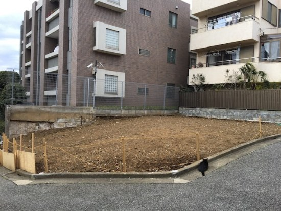 新宿区下落合の注文住宅-更地の画像