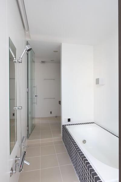 練馬区注文住宅I邸の在来風呂の画像