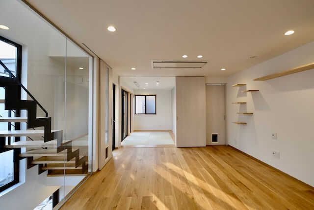 No.133 武蔵野市注文住宅 S邸事例 リビングの画像