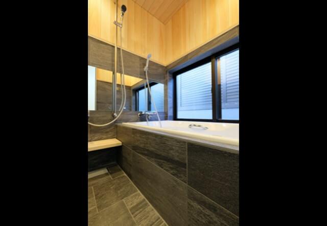 No.133 武蔵野市注文住宅 S邸事例 在来風呂の画像