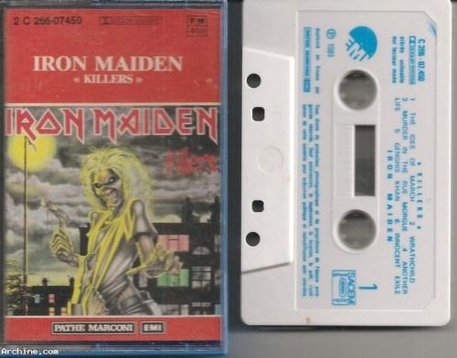 Cassette audio tape (K7) - Iron Maiden - killers - année 1981 ...