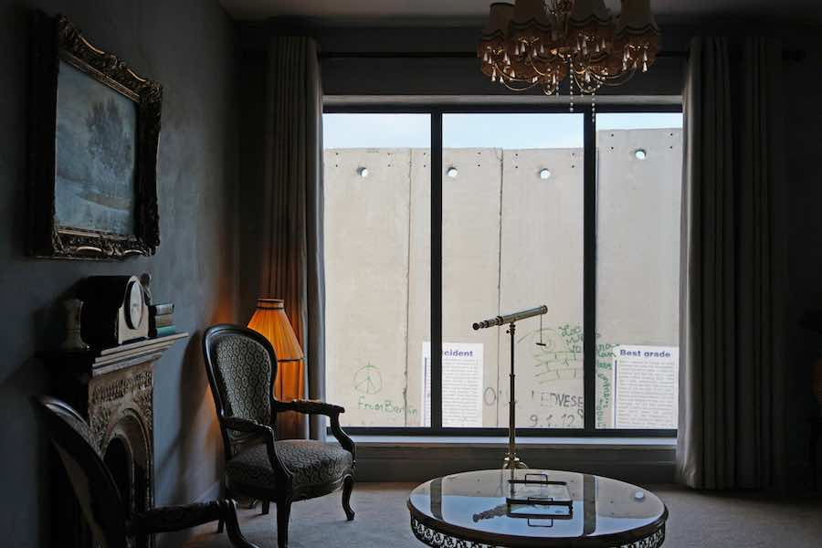 Banksy S Walled Off Hotel Is Conceived As An All Inclusive Vandal Resort Overlooking The Israeli Palestinian Border Wall