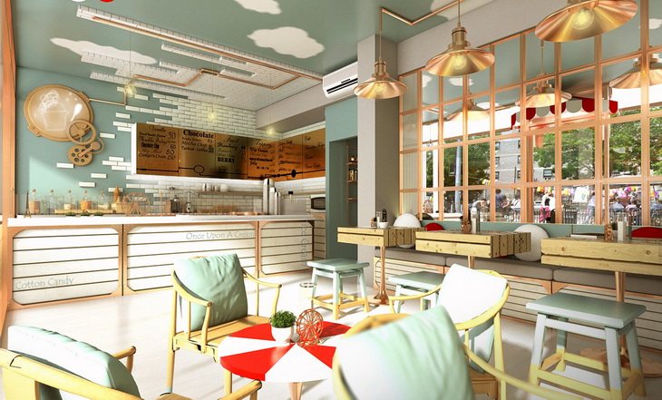 Once Upon A Cream Ice Cream Shop By MADA Design Factory