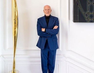Norman Foster in his Foundation. Picture by José Manuel Ballester