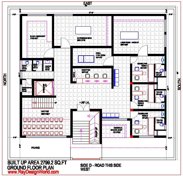 Best Hospital Design in 3960 square feet - 18