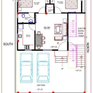 Best Residential Design in 1350 square feet - 49