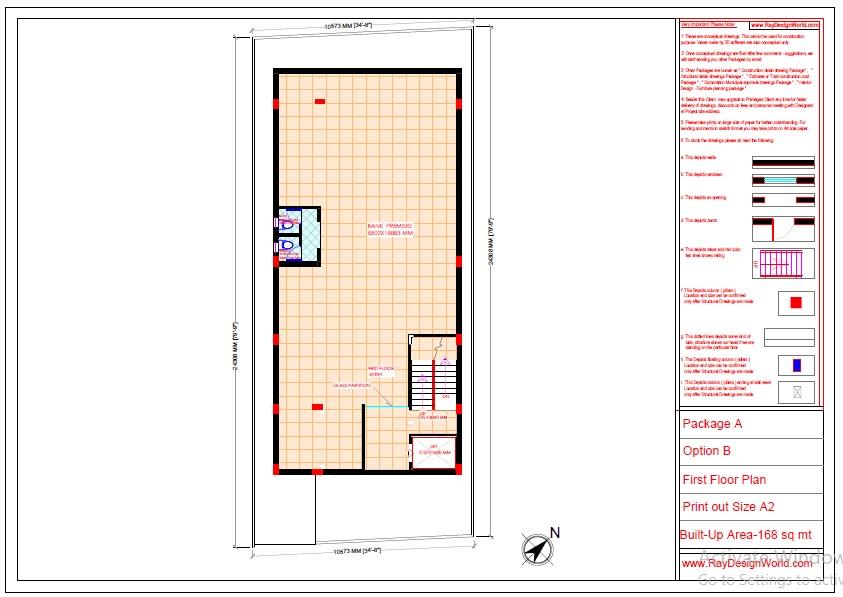 Commercial Complex Design -First floor plan- Indranagar Lucknow UP - Mr. Abhishek Singh