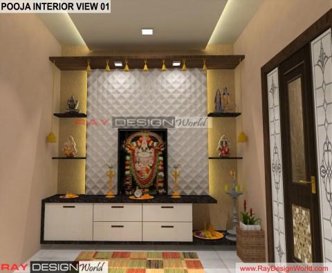 Pooja room Interior Design view 01