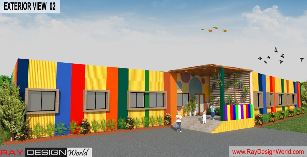 Play School 3D Exterior view 02