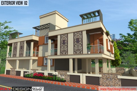 Guest House - 3D Exterior view 02