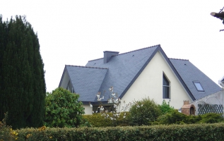 L'OLLIVIER Architecte PONT L'ABBÉ - toiture ardoise combrit