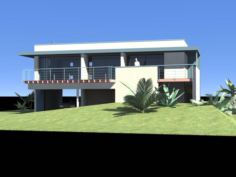 C 01 maison cubique le guilvinec architecte l 39 ollivier for Cout rehausse maison