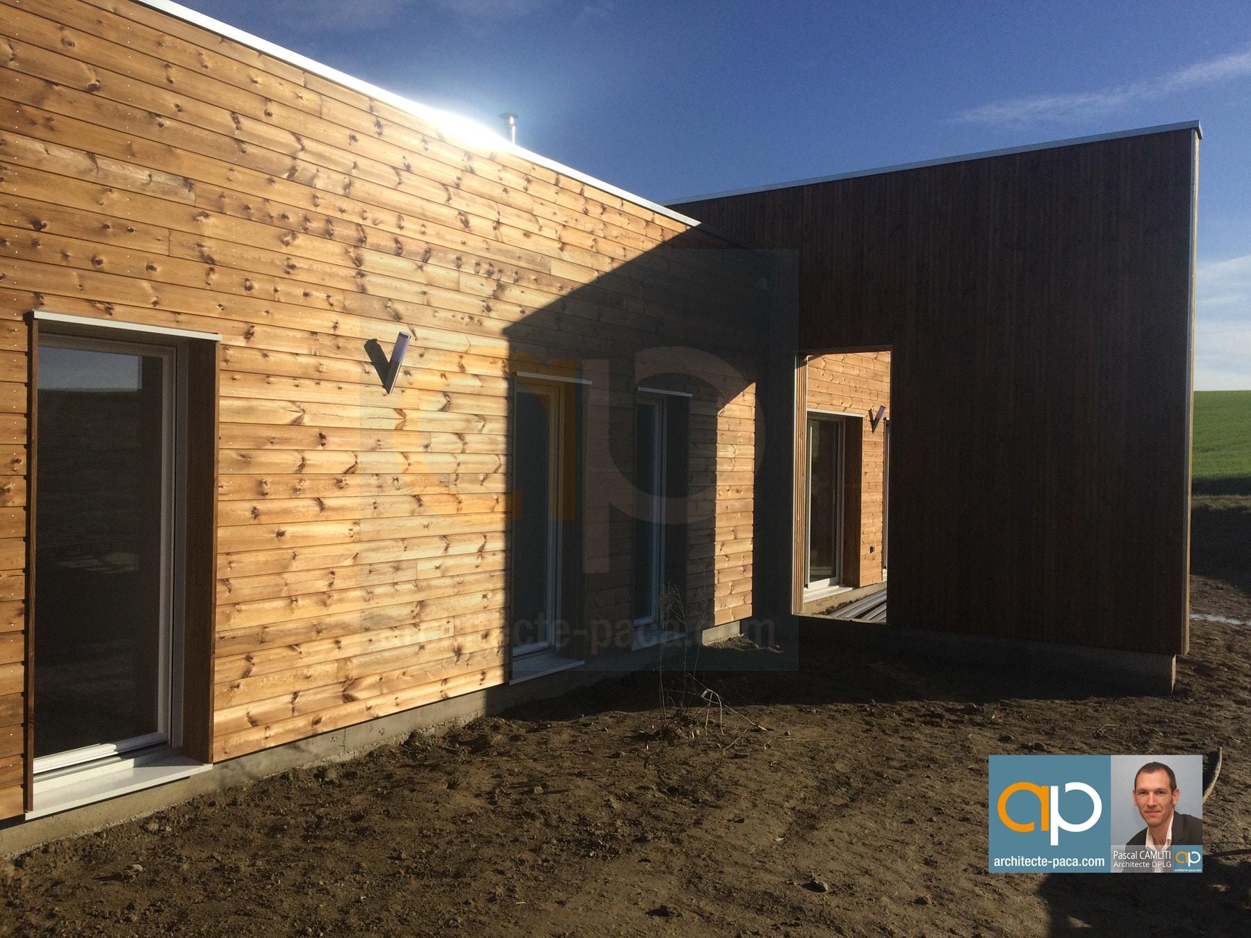 Realisation maison bois camliti architecte lanta 31 01 for Architecte marseille maison individuelle