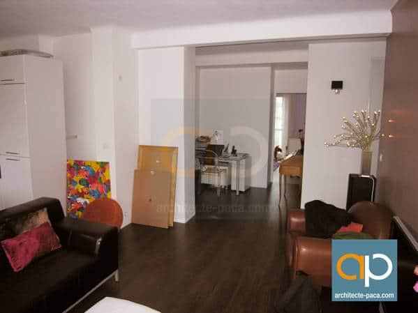 r novation compl te et design d 39 un appartement marseille. Black Bedroom Furniture Sets. Home Design Ideas