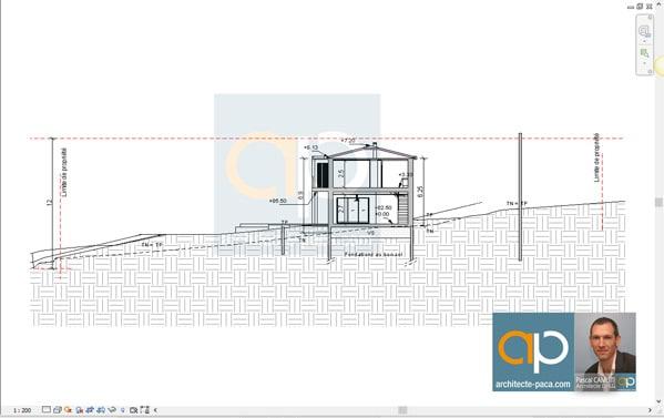 plan architectural maison coupe - Plan Architecturale De Maison