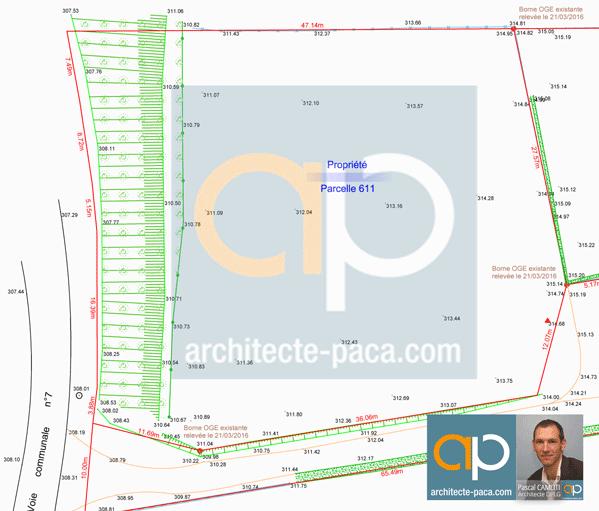 Plan de géomètre Topographique