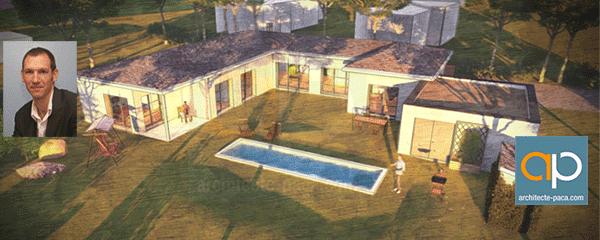Maison semi contemporaine de plain pied