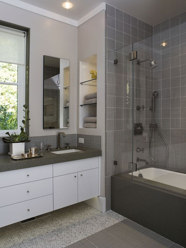 30 Small and Functional Bathroom Design Ideas For Cozy Homes on Small Bathrooms Ideas  id=54812
