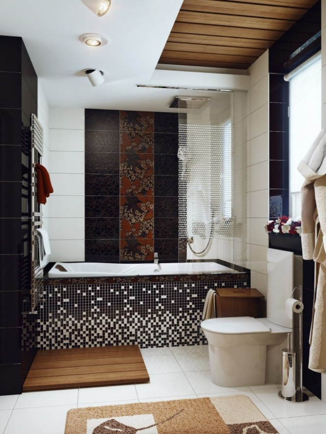 How to decorate small space bathrooms on Modern:kkgewzoz5M4= Small Bathroom  id=14971