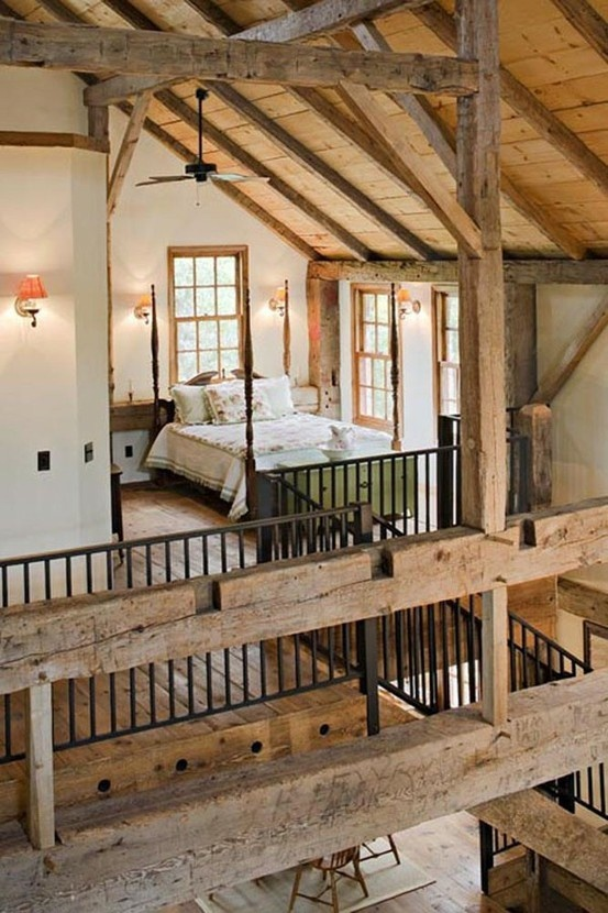 Practical and purposeful, a bare brick wall psychologically has a. 36 Rustic Barns Bedroom Design Ideas
