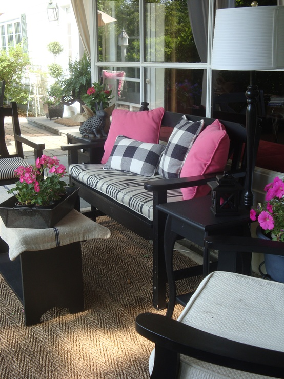 47 Cutie Patio Ideas For A Patel Colors Design on Black And White Backyard Decor  id=21180