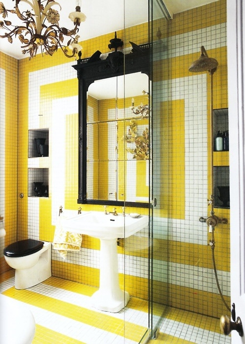 36 Bright And Sunny Yellow Ideas For Perfect Bathroom ... on Small:j8V-Fokdwly= Bathroom Renovation Ideas  id=17448
