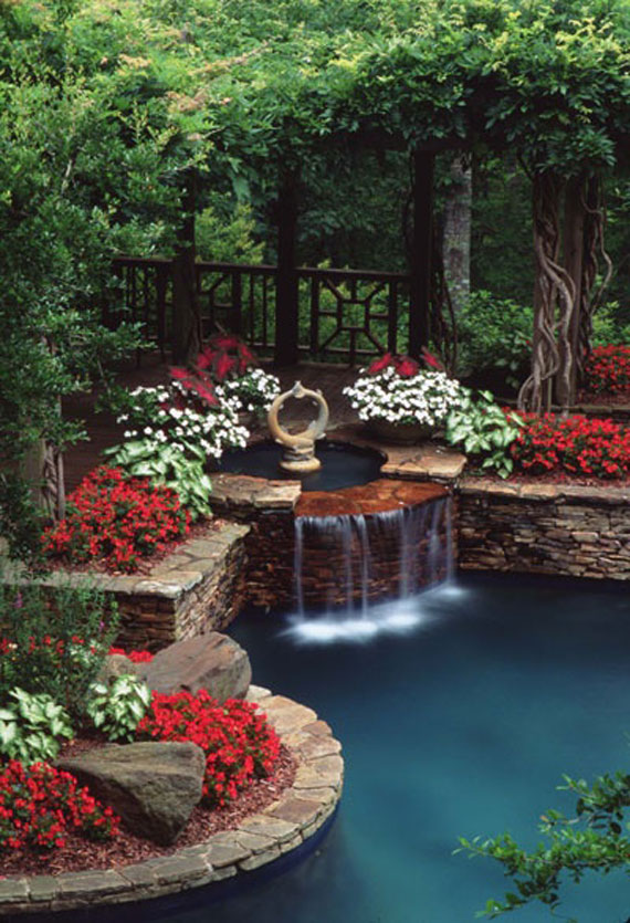 30 Beautiful Backyard Ponds And Water Garden Ideas on Landscape Garden Designs For Small Gardens id=58428