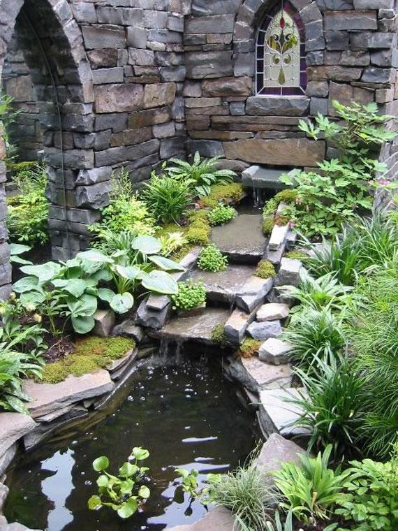 30 Beautiful Backyard Ponds And Water Garden Ideas on Pond Ideas Backyard id=73479