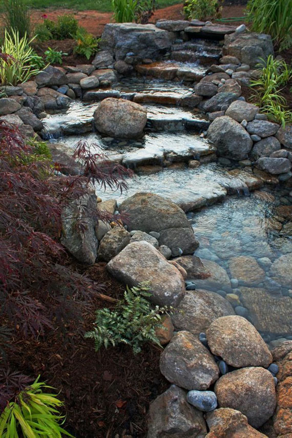 30 Beautiful Backyard Ponds And Water Garden Ideas on Backyard Pond Landscaping Ideas  id=13664