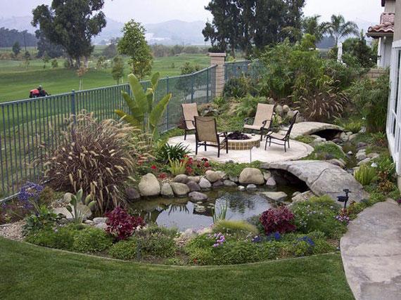 30 Beautiful Backyard Ponds And Water Garden Ideas on Pond Ideas Backyard id=94335
