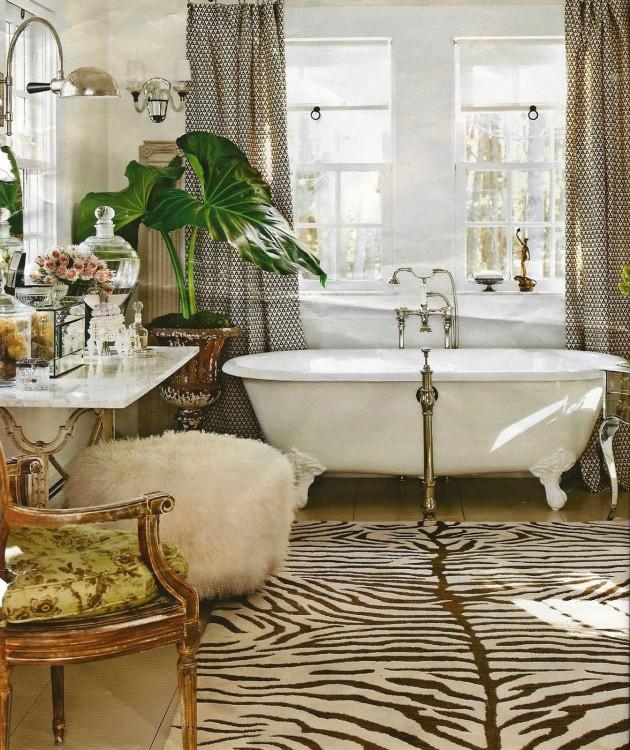 48 Bathroom Interior Ideas With Flowers And Plants - Ideal ... on Floral Tile Bathroom Ideas  id=95116