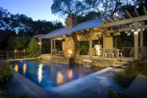 outdoor living patio and pool 40 Fancy Swimming Pools for Your Home - You Will Want to