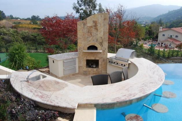 22 Breathtaking Pool-Side Bar Ideas on Backyard Pool Bar Designs id=85476