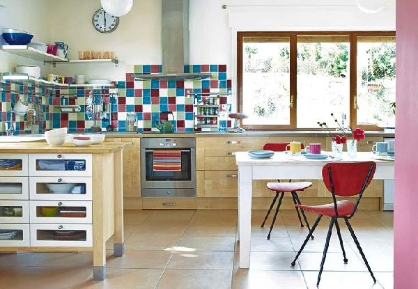Retro Kitchen Interior Design