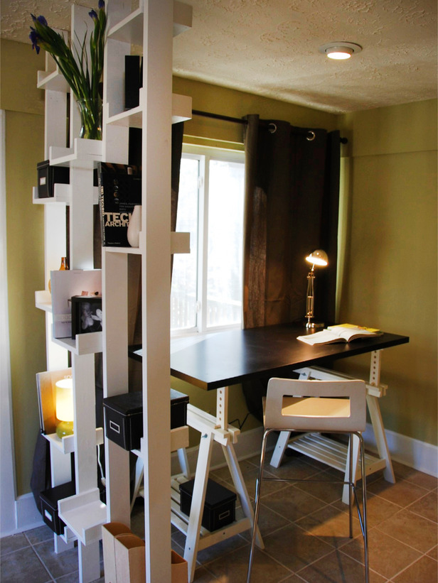 20 Great Ideas for Partition with Shelves on Small:gr1Vspvqs9Y= Bedroom Ideas  id=60811