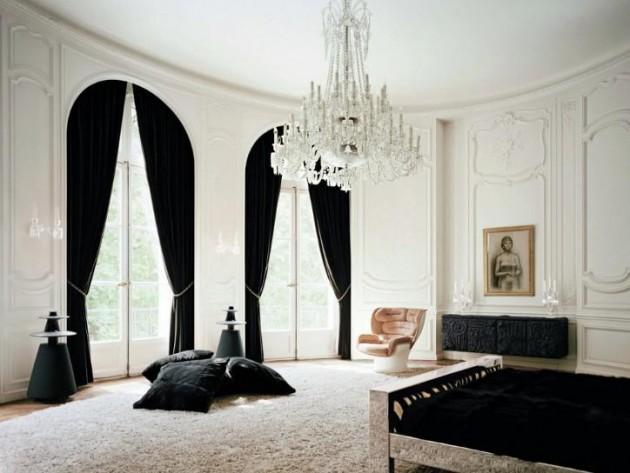 30 Stylish Interior Designs With Black Curtains