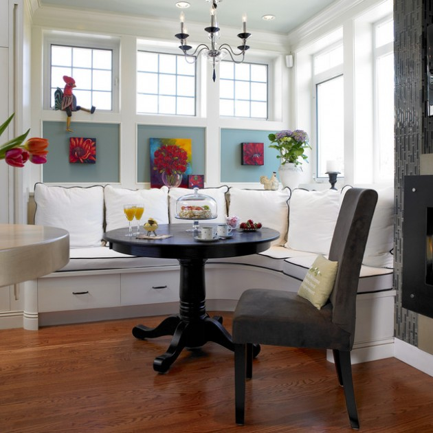 30 Adorable Breakfast Nook Design Ideas For Your Home ... on Nook's Cranny Design Ideas  id=13592