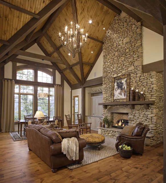 46 Stunning Rustic Living Room Design Ideas on Rustic Traditional Decor  id=80884