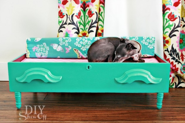 24 Creative DIY Ideas For Pet Beds And Feeders