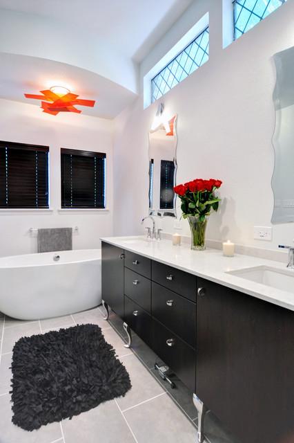 30 Elegant Black & White Colored Bathroom Design Ideas on Modern:ywbgei4Kh3S= Kitchen Ideas  id=76099
