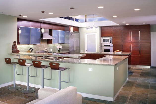 30 Elegant Contemporary Breakfast Bar Design Ideas on Modern:0Bjn4Cem9Be= Kitchen Counter  id=44013