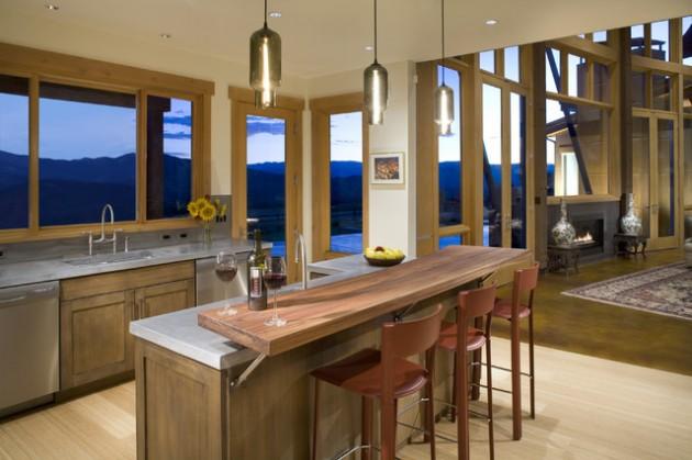 30 Elegant Contemporary Breakfast Bar Design Ideas on Modern:0Bjn4Cem9Be= Kitchen Counter  id=41908